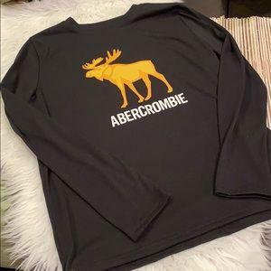 AF Kids Moose Logo Long Sleeve Sleep Shirt